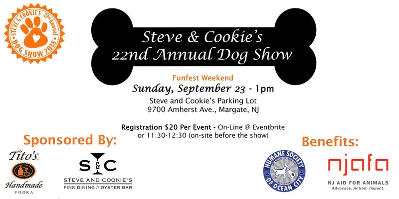 Sept 23rd - Steve & Cookie's 22nd Annual Dog Show, 1 PM