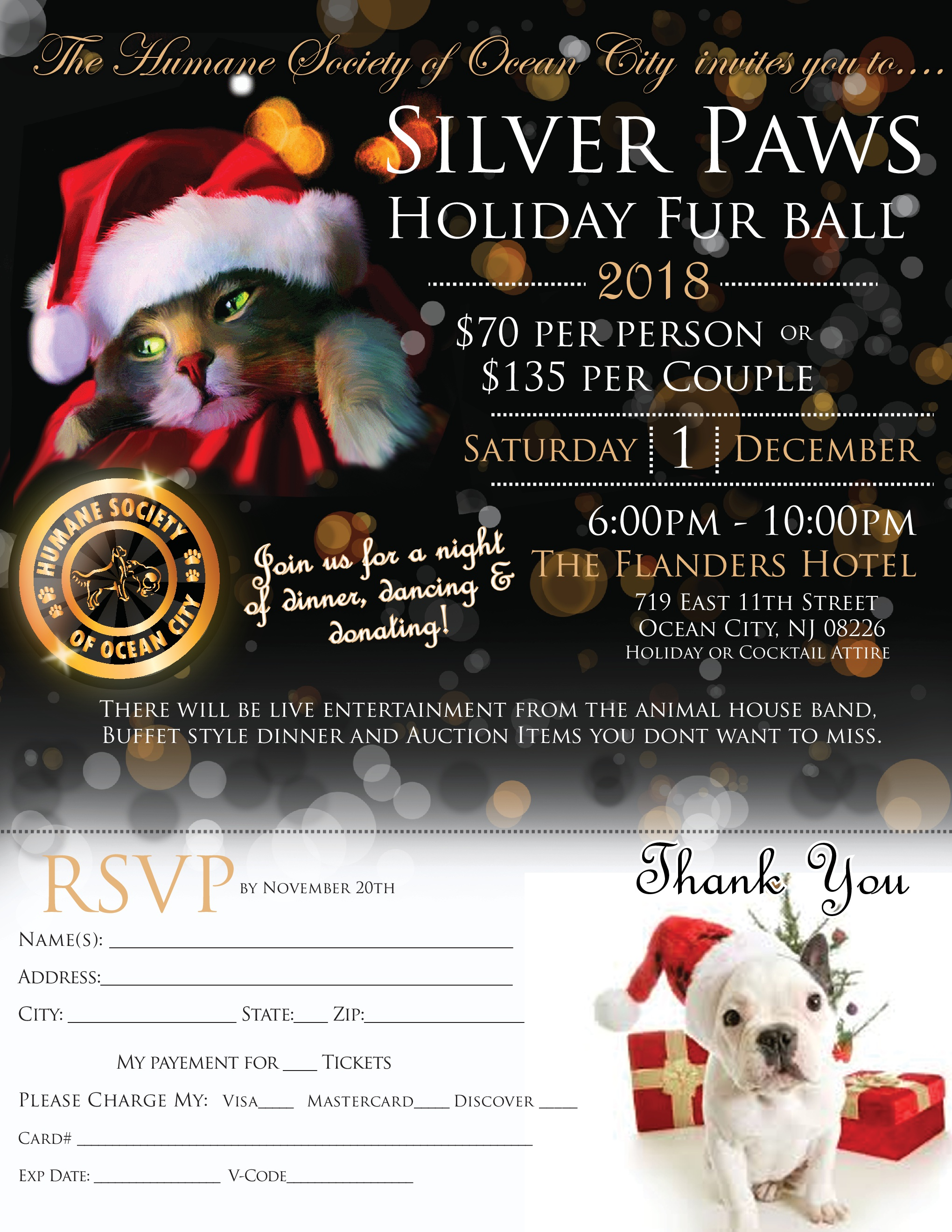 Dec 1st - Silver Paws Holiday Fur Ball @ Flanders